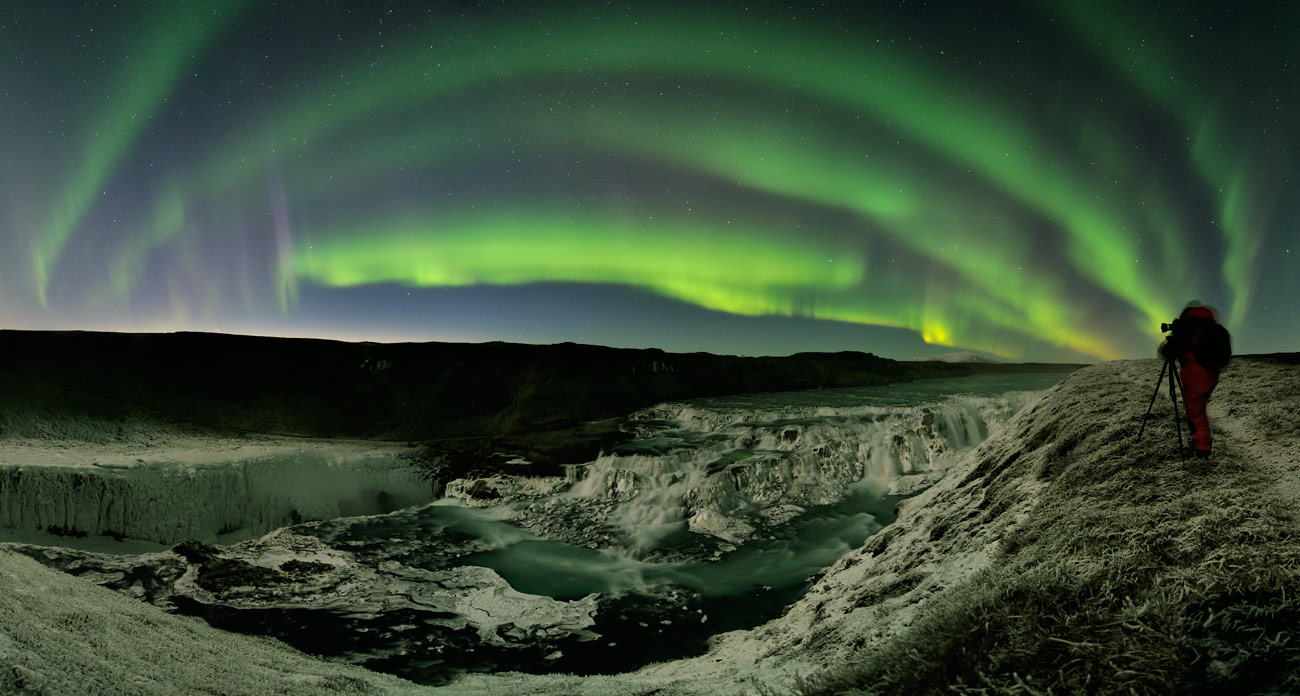 2013 March 26 - Waterfalls, Auroras, Comet: Iceland