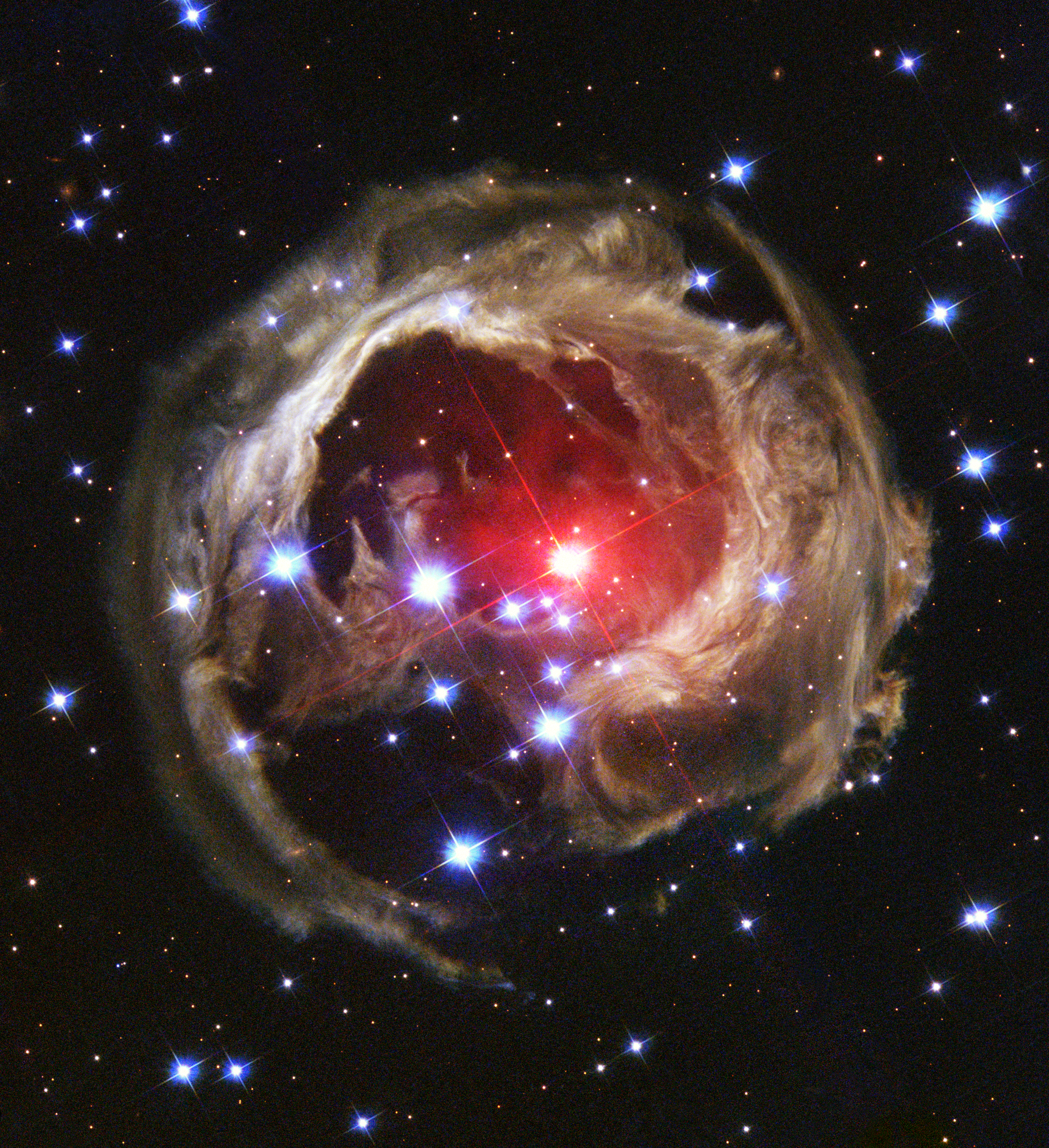 apod 2013 march 17 light echoes from v838 mon