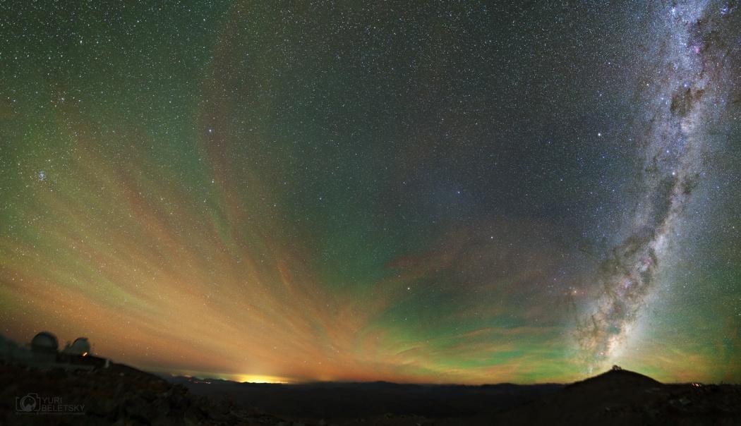 Luminiscencia, Gegenschein y Vía Láctea
