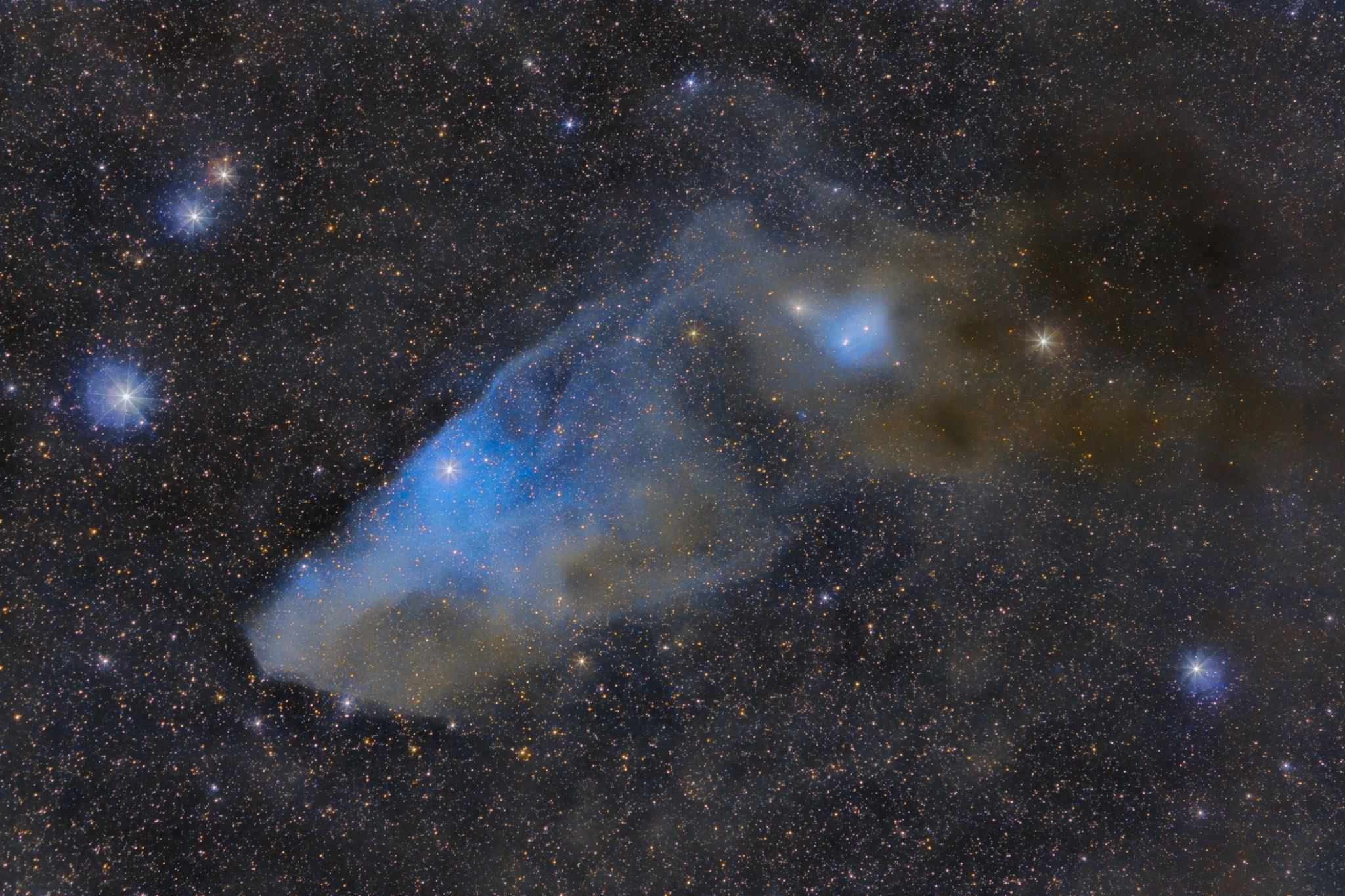 IC 4592: la nebulosa de reflexión azul Cabeza de Caballo