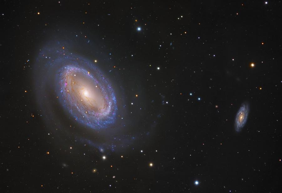 La galaxia espiral NGC 4725 de un solo brazo
