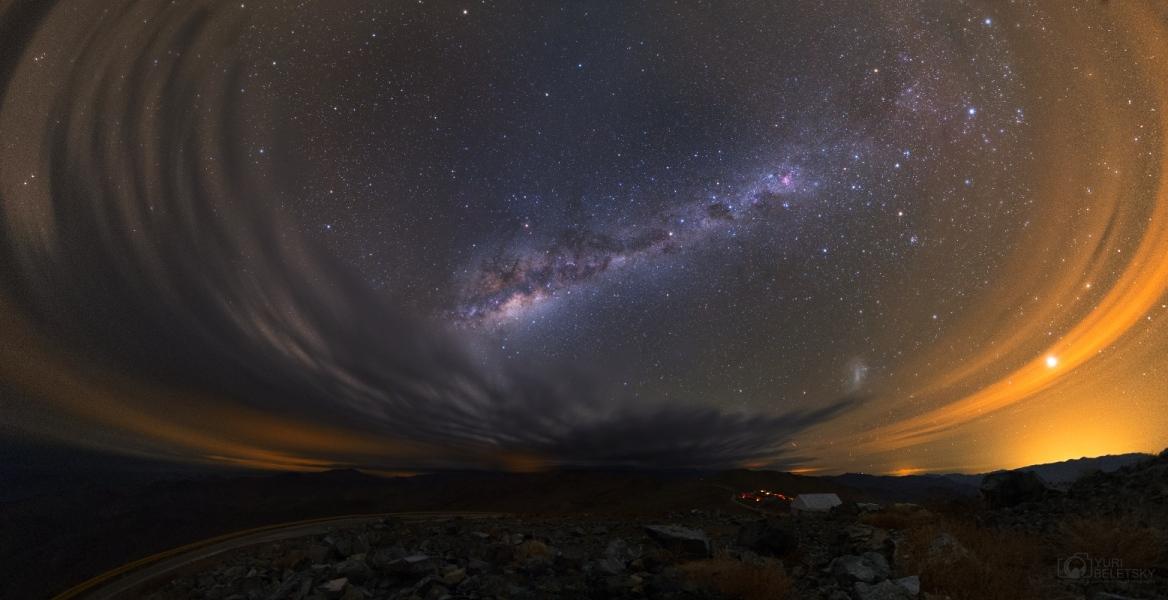 Noche nublada en Atacama
