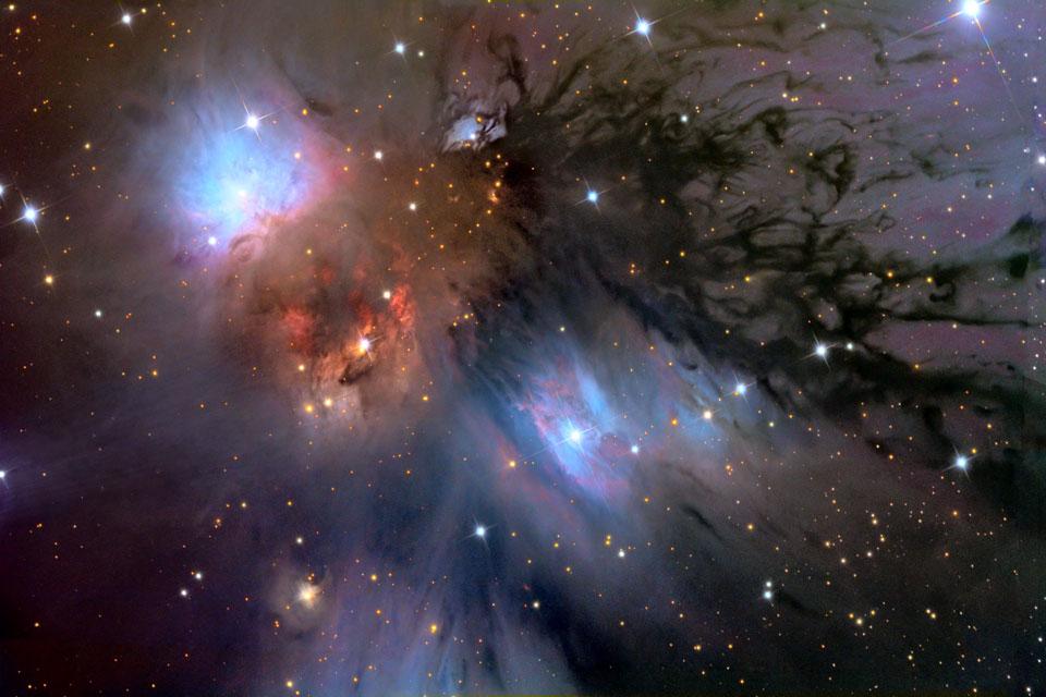 NGC 2170: bodegón con polvo reflectante