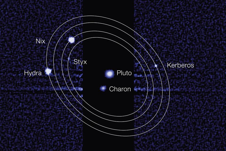 Pojmenovány nově objevené měsíce Pluta