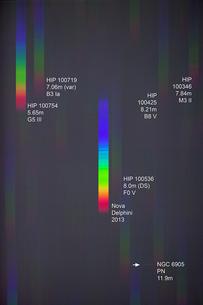 APOD: 2013 August 23 - A Spectrum of Nova Delphini : Astronomy