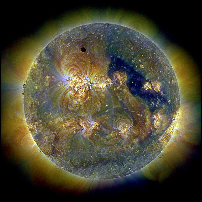 2013 August 20 - Venus and the Triply Ultraviolet Sun