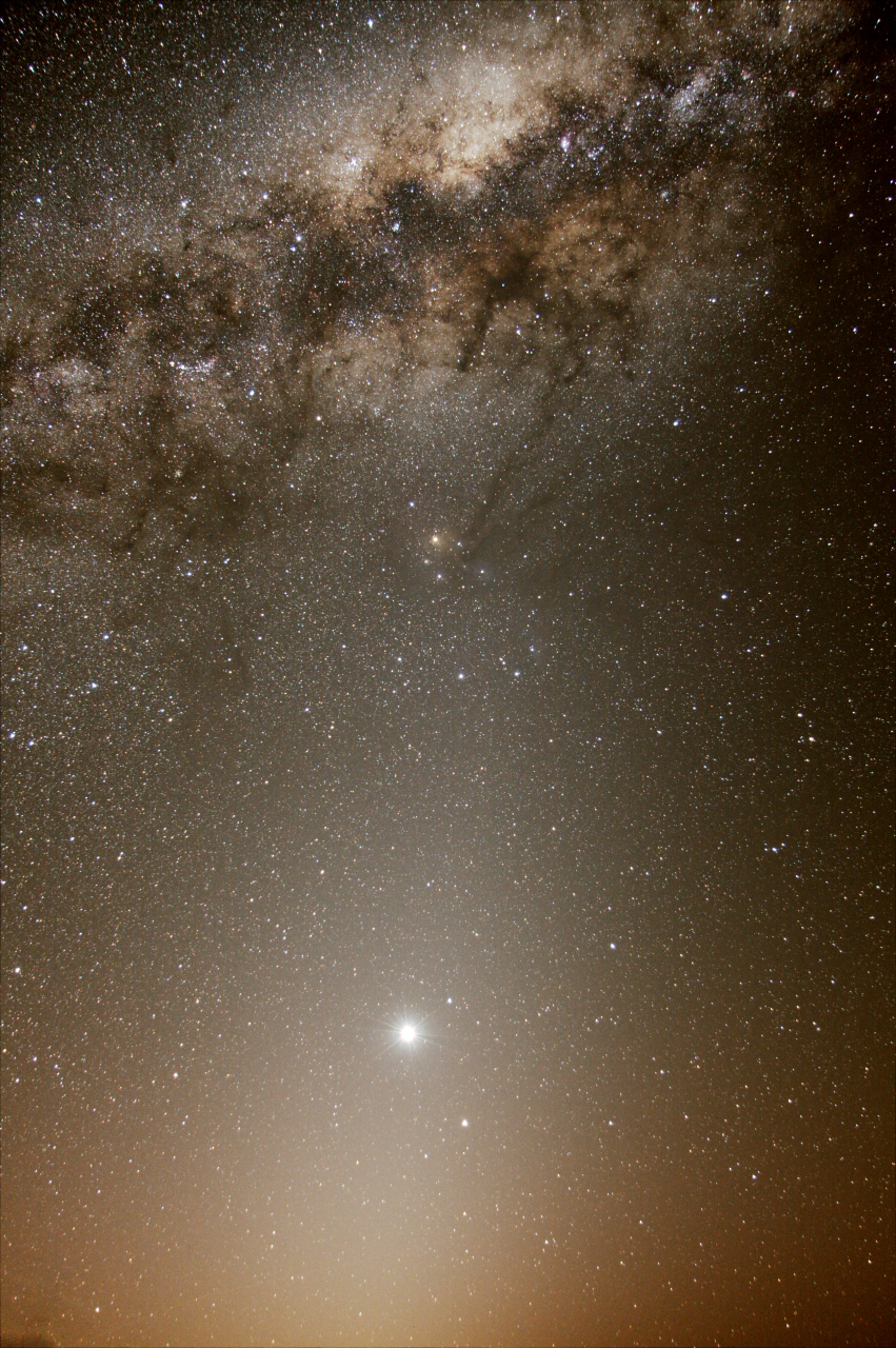 2013 October 18 - Venus, Zodiacal Light, and the Galactic Center