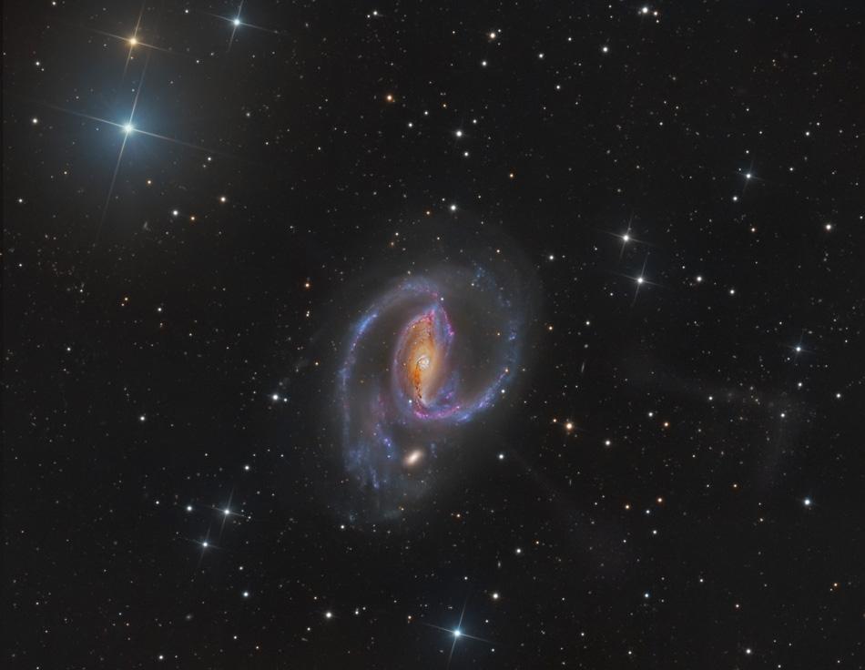Výtrysky z NGC 1097