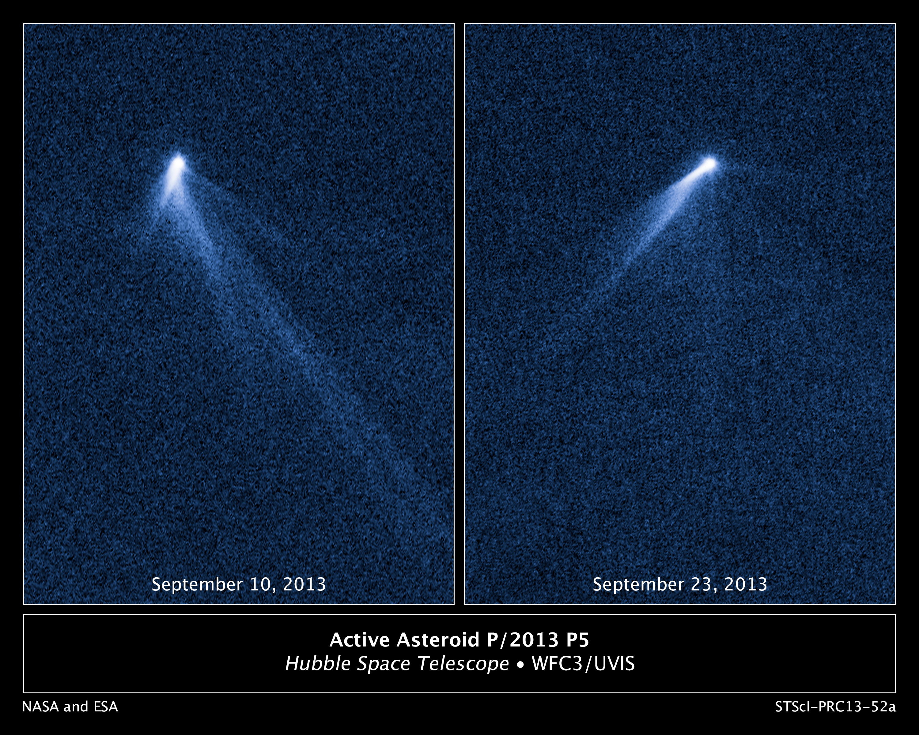 APOD: 2013 November 12 - The Unexpected Tails of Asteroid P5