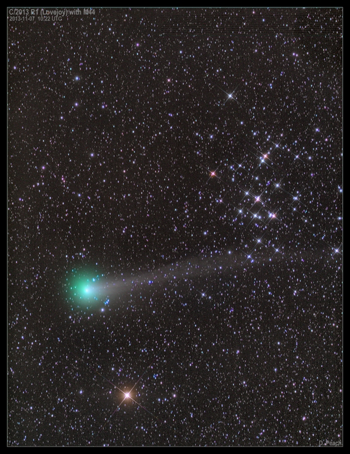 APOD: 2013 November 9 - Comet Lovejoy with M44