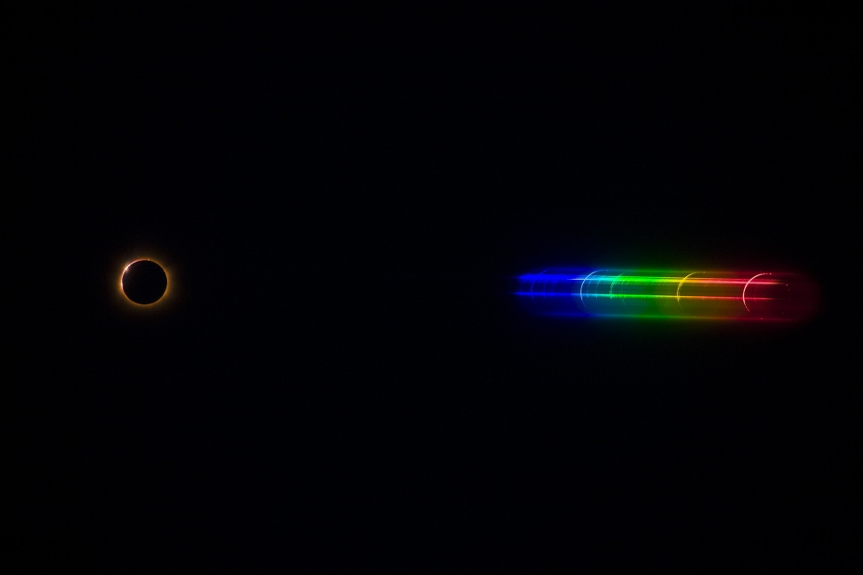 El espectro destello del Sol