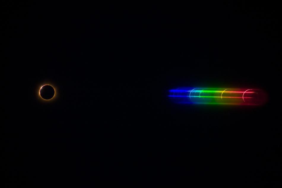 Bleskové spektrum Slunce