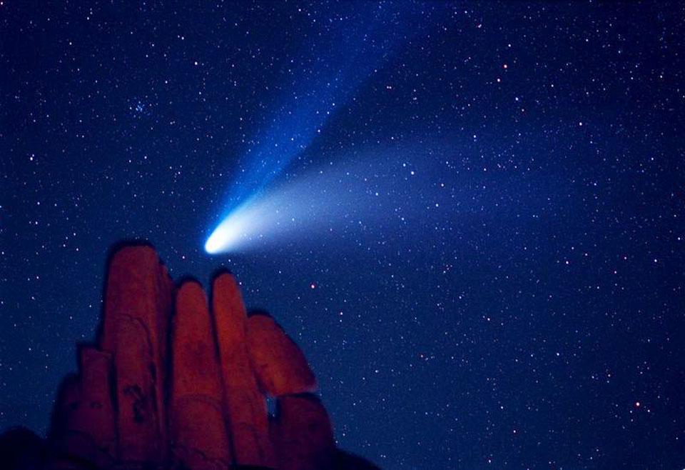 Komet Hale-Bopp Selama Indian Cove