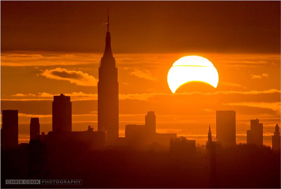 Eclipse sobre Nueva York