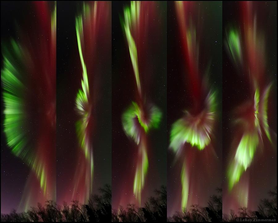 Secuencia de aurora en Alaska