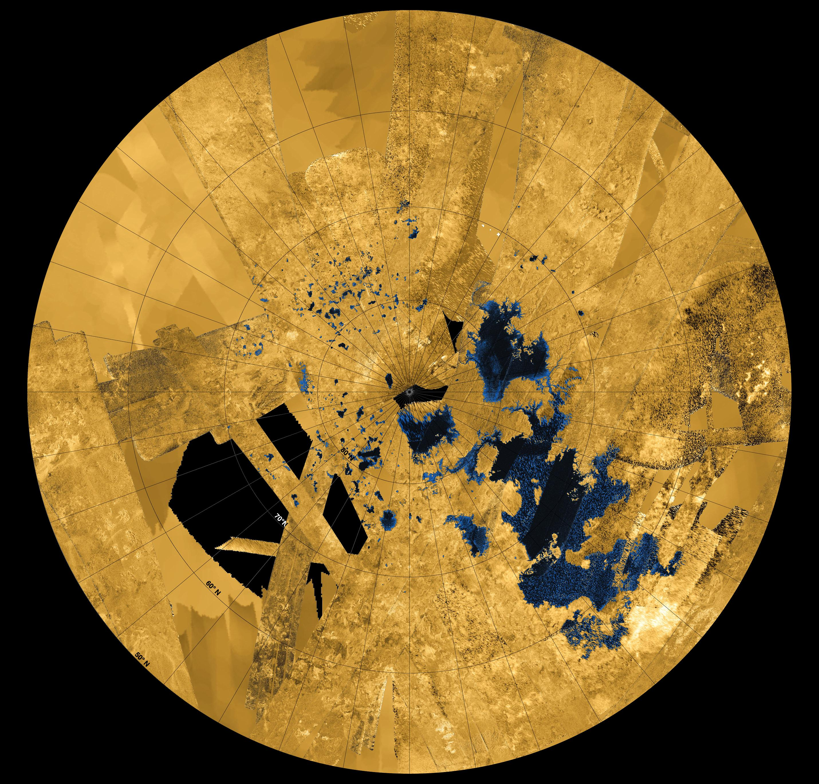 APOD: 2013 December 20 - Titan\'s Land of Lakes
