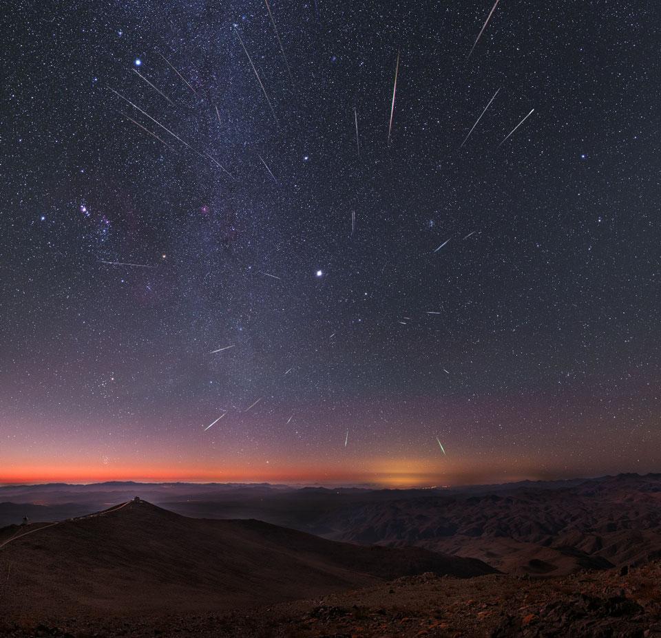 Los meteoros de las Gemínidas sobre Chile