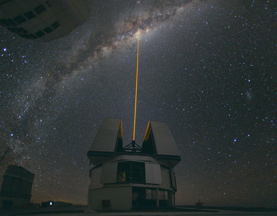 Strike Laser di Pusat Galactic