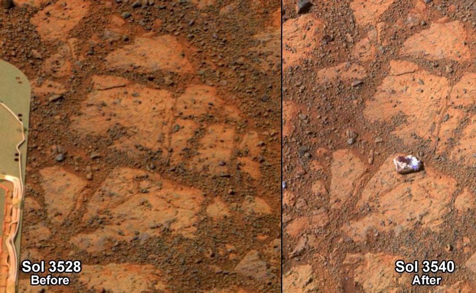 Aparece en Marte una roca con forma de donut de mermelada