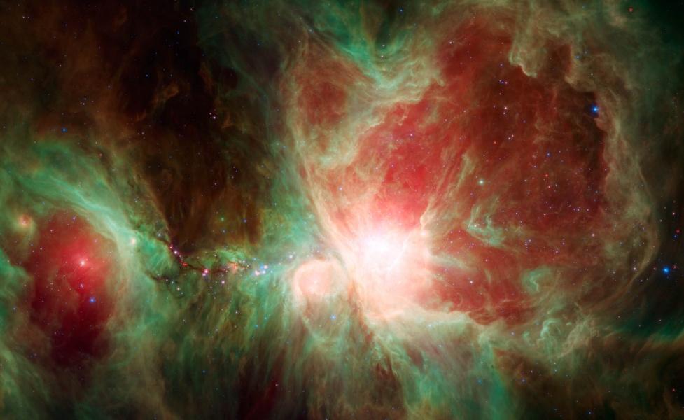 La nebulosa de Orión según el Spitzer