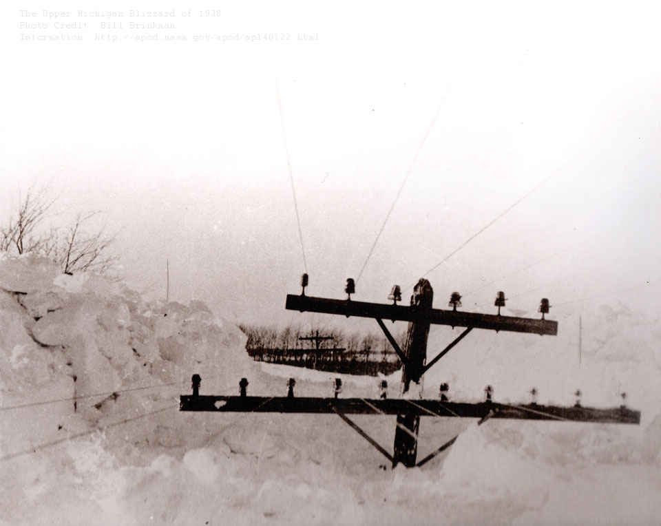 1938 : Upper Peninsula Battered by Epic Winter Storm