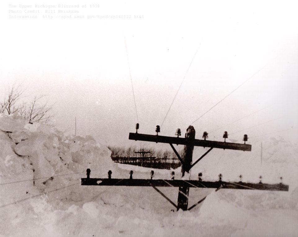 La tormenta de nieve de 1938 sobre la Península superior de Michigan