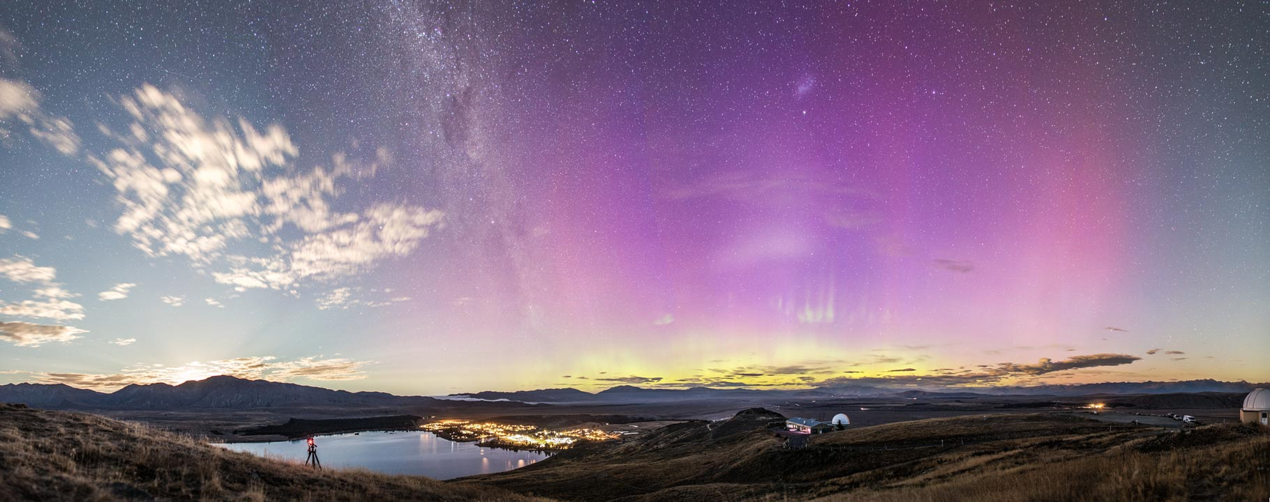 Aurora sobre Nueva Zelanda