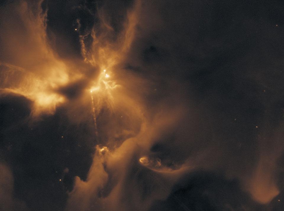 Un chorro de partículas forma un HH 24