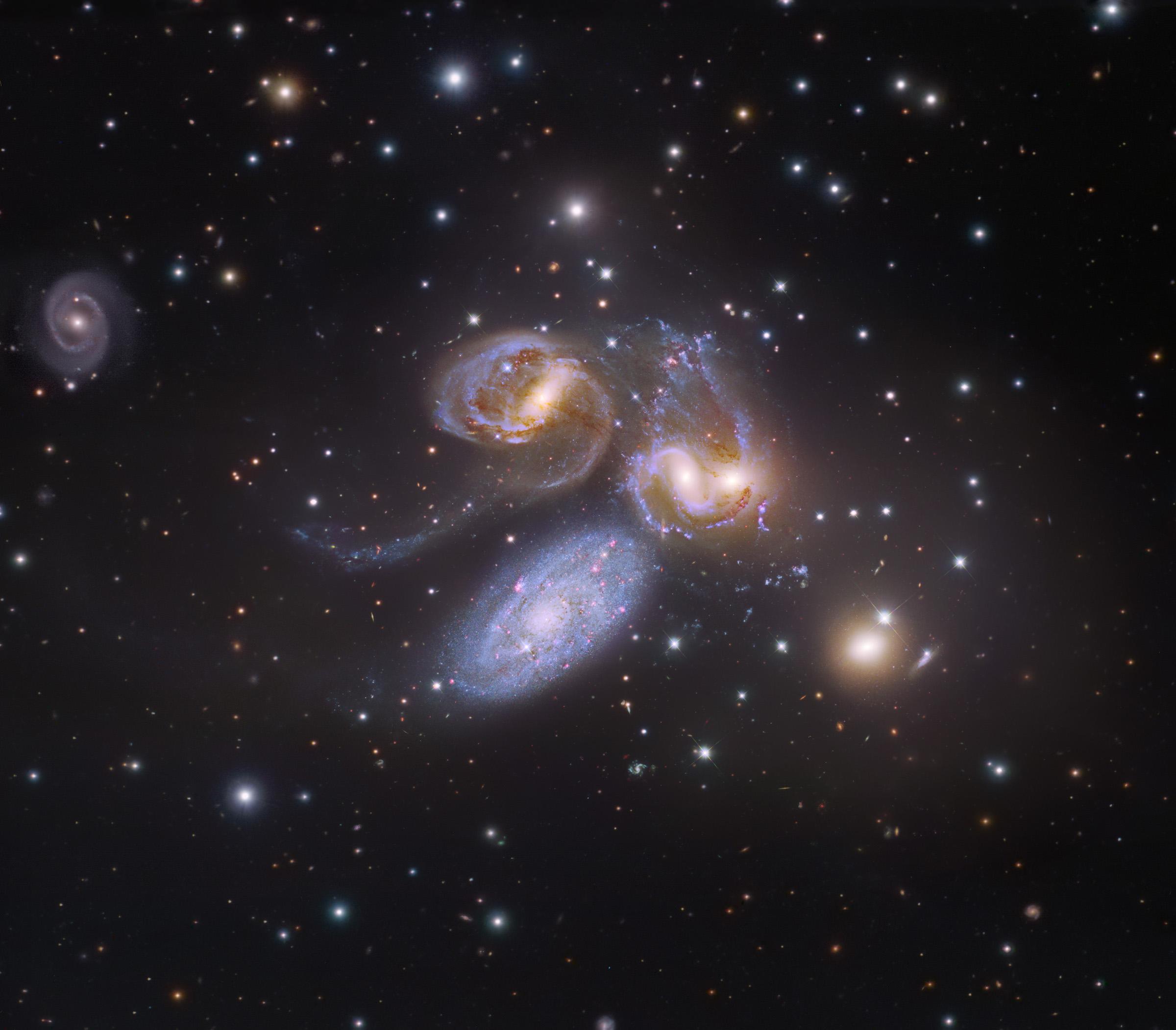 Apod 2014 March 27 Stephan S Quintet Plus One
