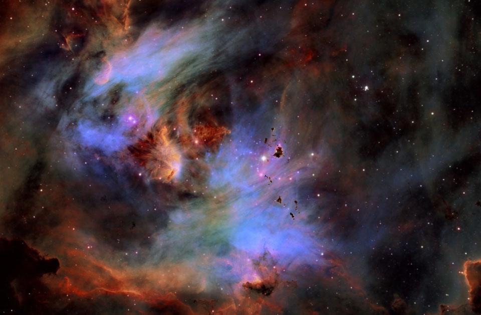 Glóbulos en la nebulosa del Pollo Corredor
