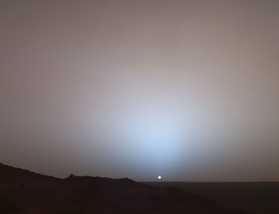 sun sets on mars nasa - photo #14