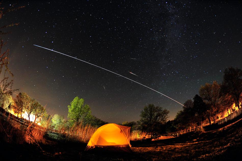 Las Camelopardalides y la Estación Espacial Internacional