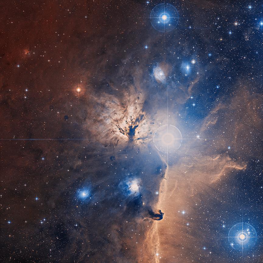 En el interior de la nebulosa de la Llama