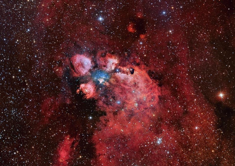 NGC 6334: la nebulosa Pata de Gato