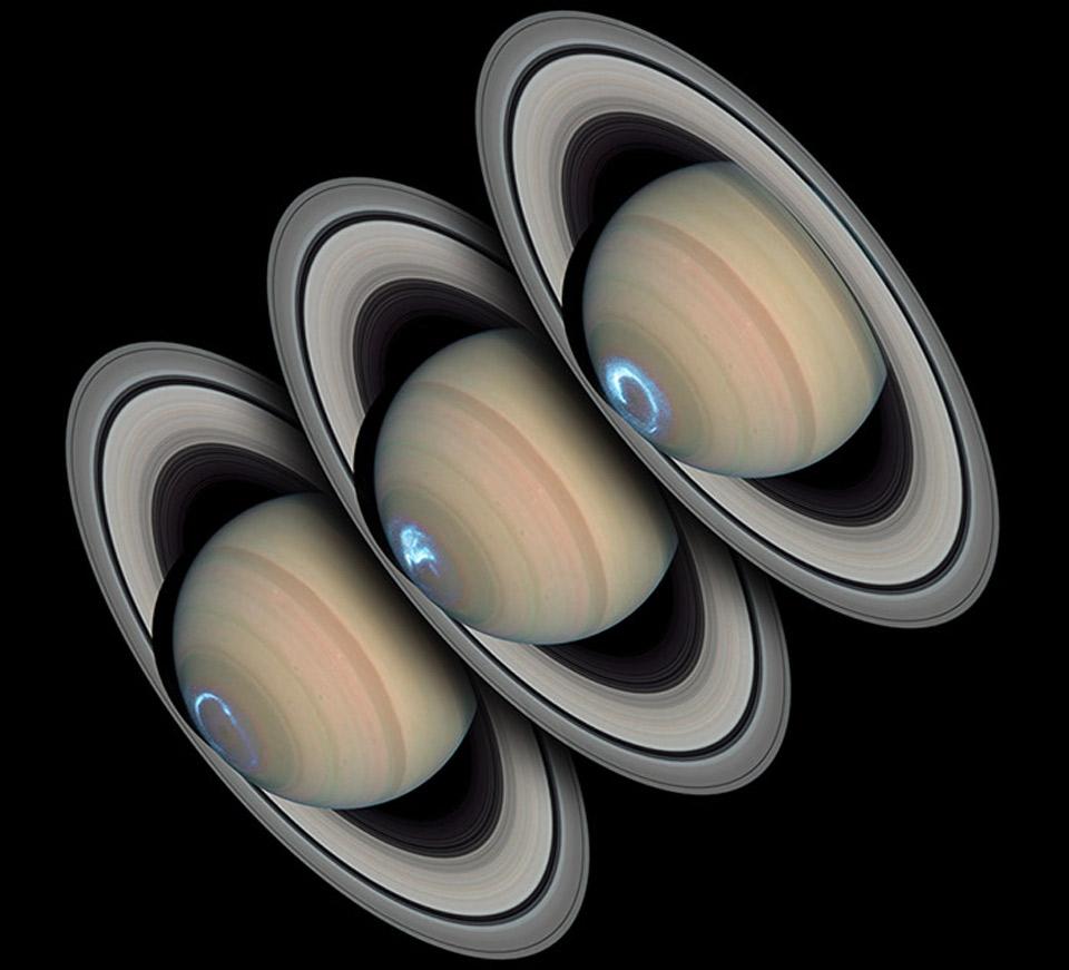 Las persistentes auroras de Saturno
