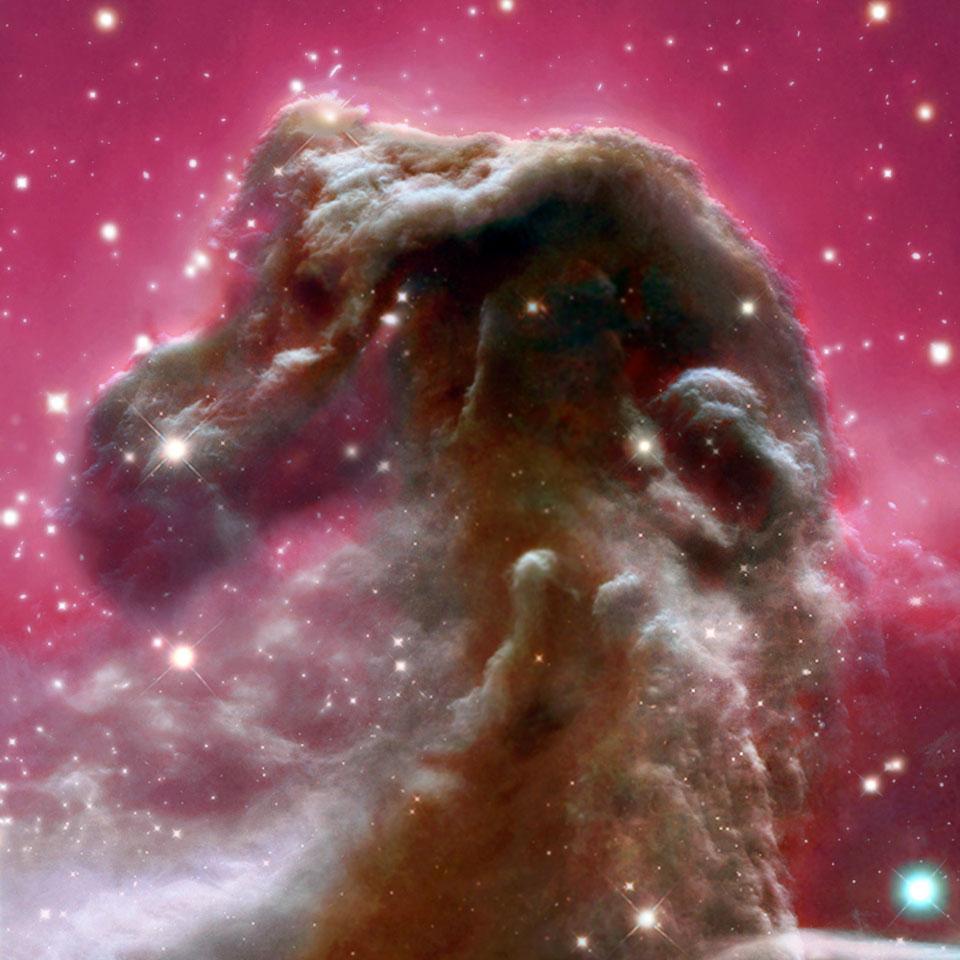 La nebulosa Cabeza de Caballo del azul al infrarrojo