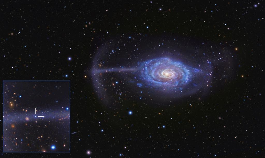 NGC 4651: la galaxia del paraguas