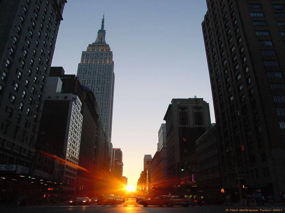 Apod 2014 July 6 Manhattanhenge A New York City Sunset