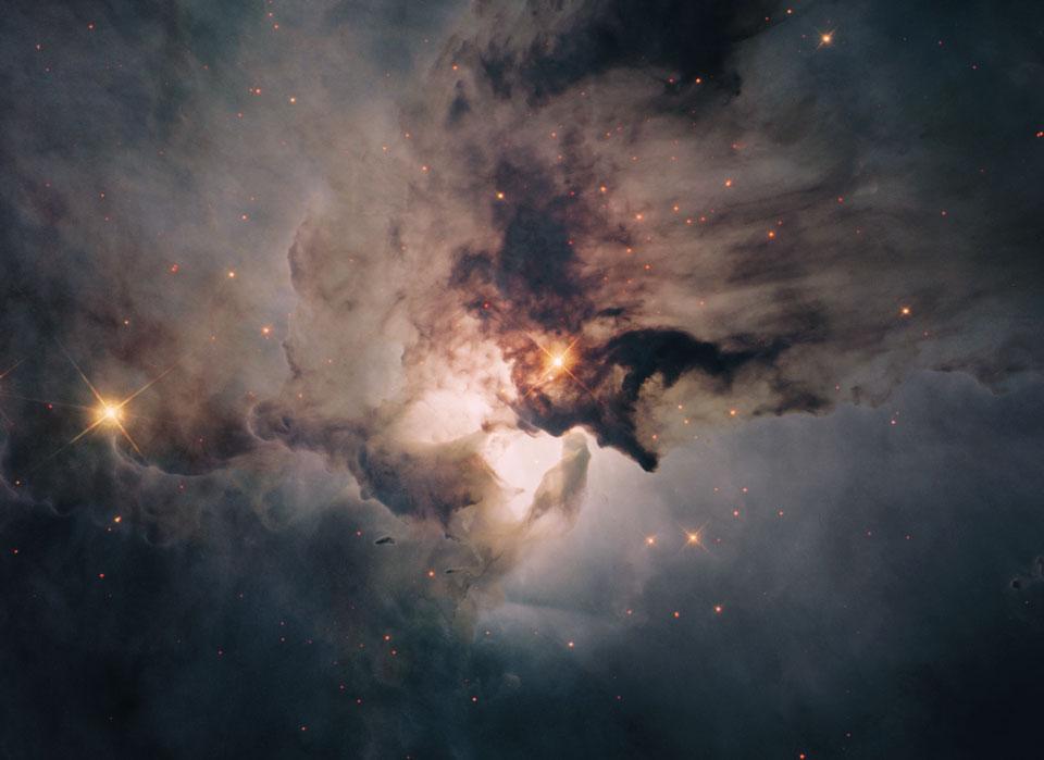 En el centro de la Nebulosa Laguna