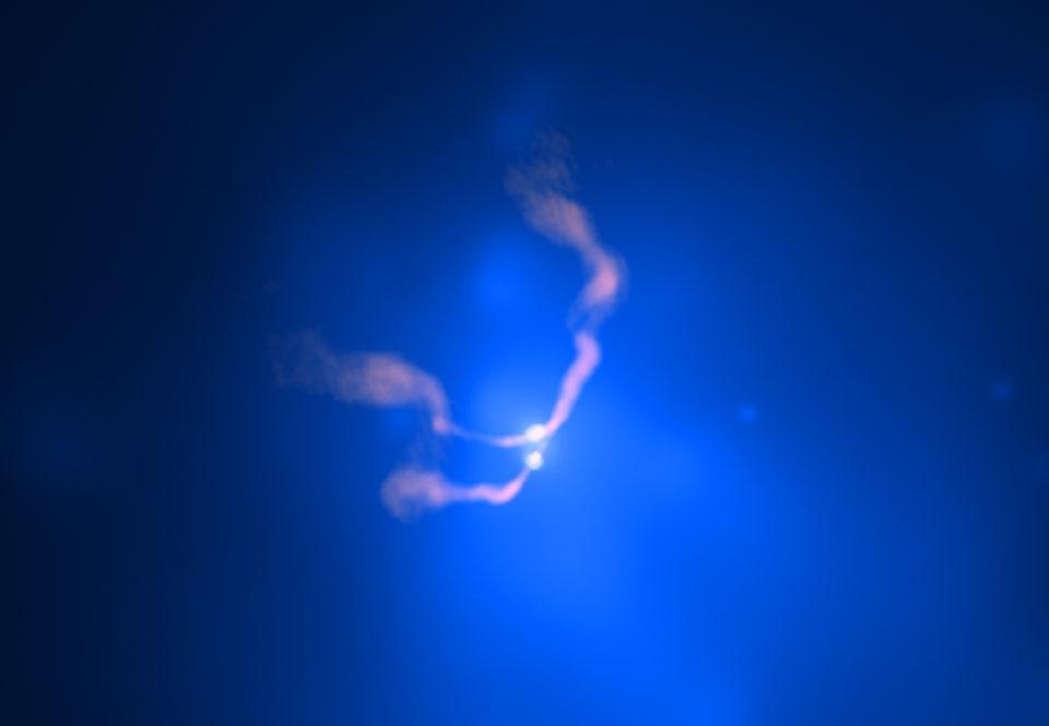 Dos agujeros negros que danzan en 3C 75