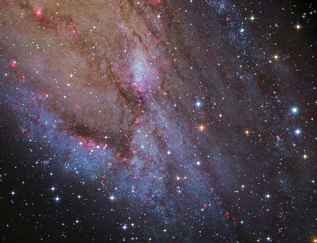NGC 206 y las nubes estelares de Andrómeda
