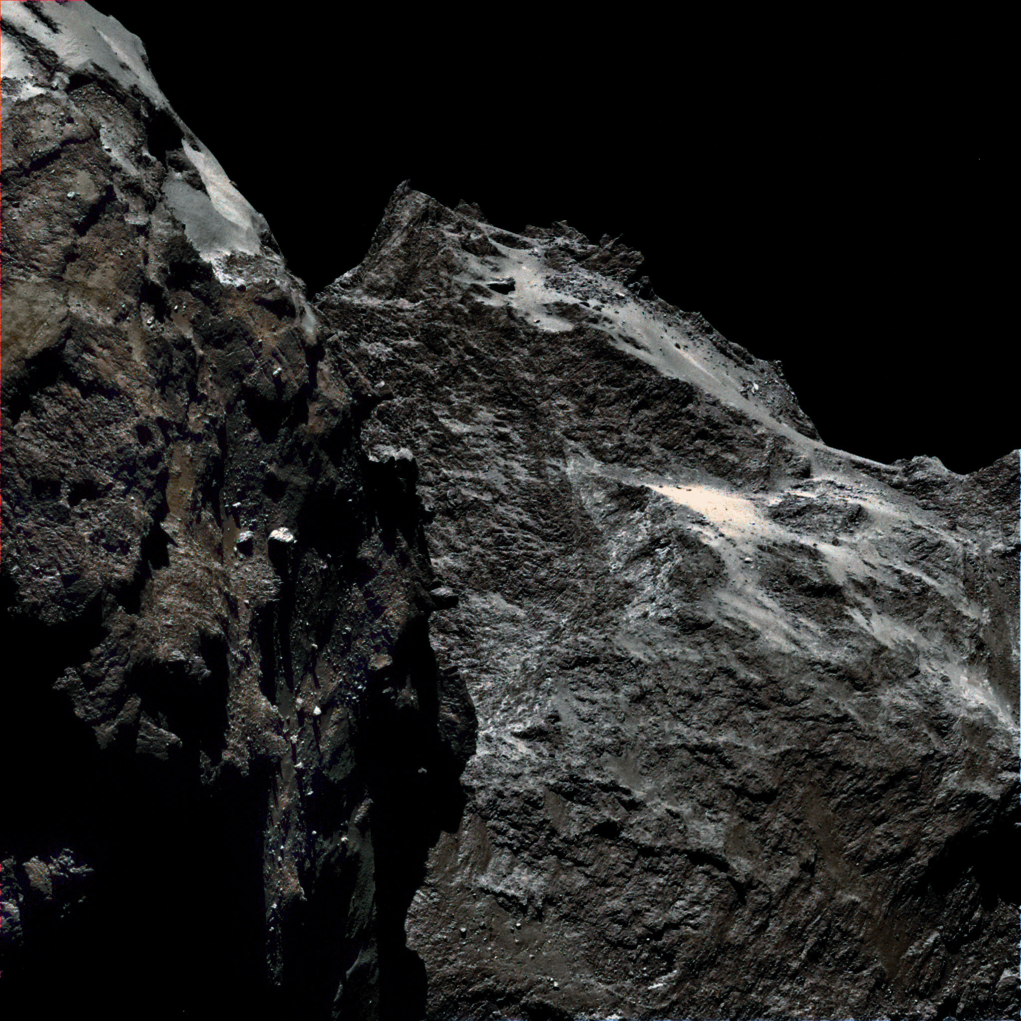 Close-up of comet surface.