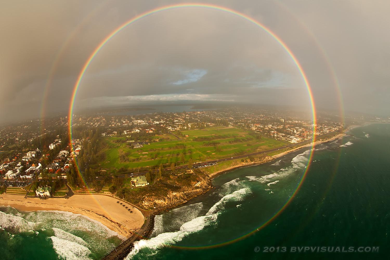 apod 2014 september 30 a full circle rainbow over australia