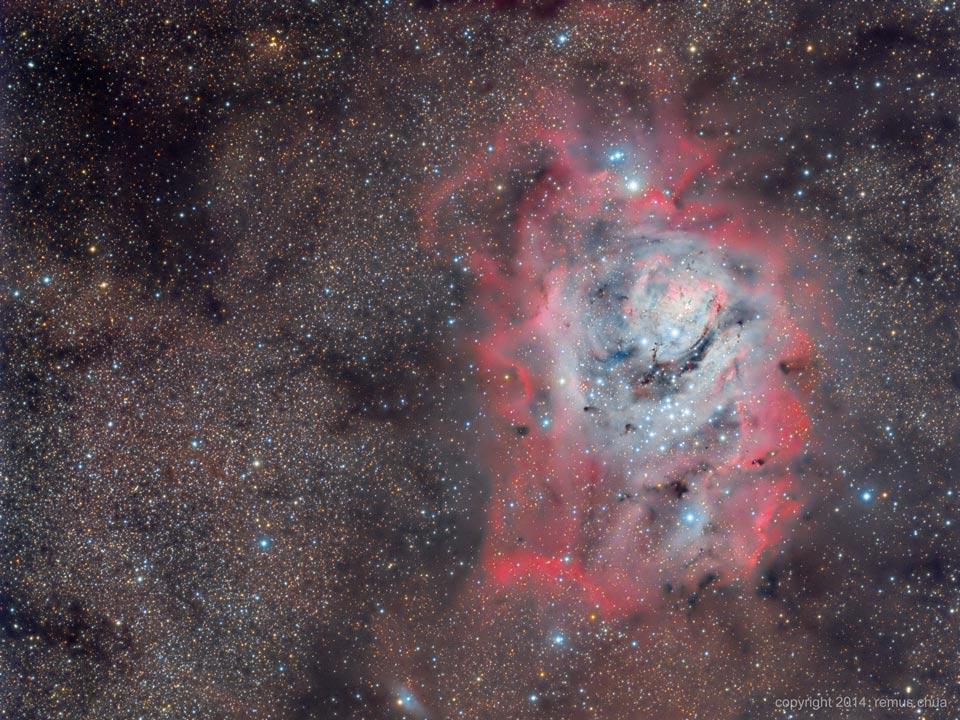 La nebulosa de La Laguna entre estrellas, polvo y gas