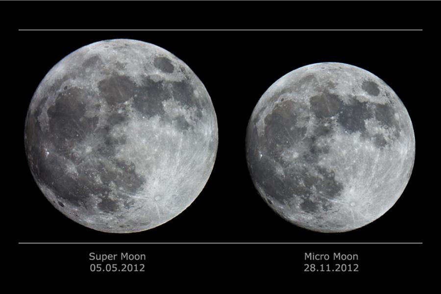 Supermoon Vs Full Moon >> APOD: 2014 September 8 - Super Moon vs Micro Moon