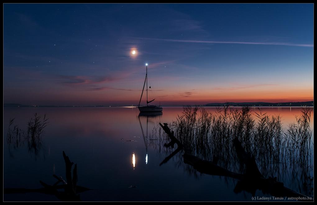 Mars, Antares, Bulan dan Saturnus