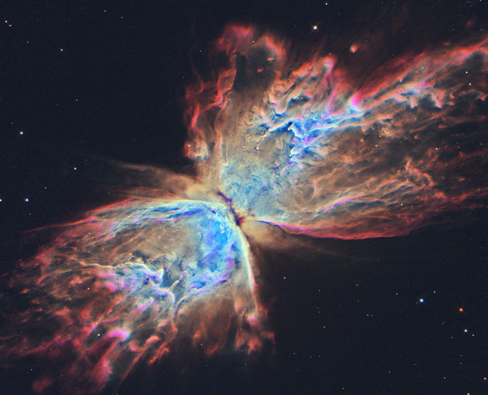 La nebulosa de la Mariposa desde el Hubble