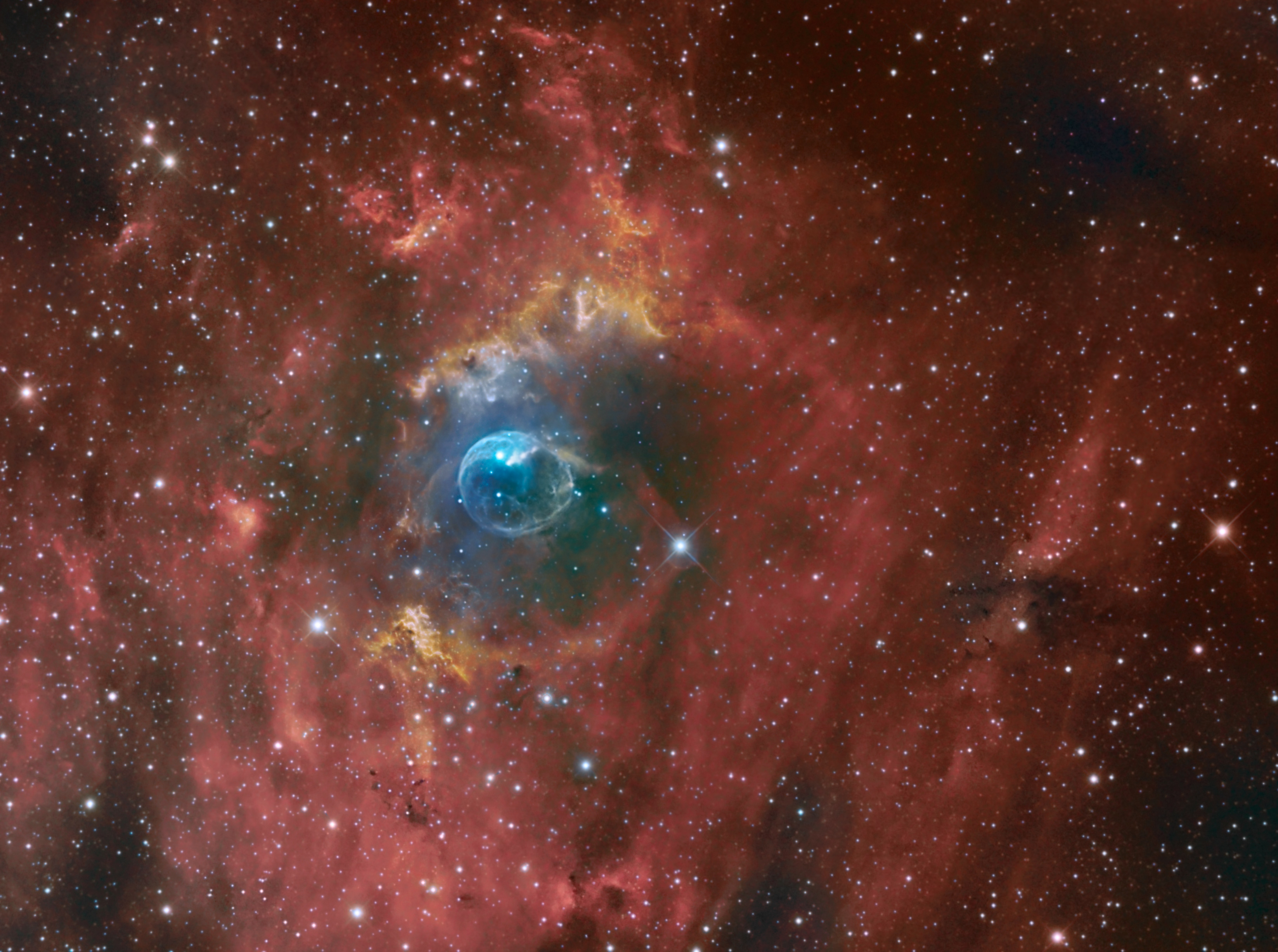 Apod 2014 october 2 the bubble nebula clicking on the picture will download the highest resolution version available the bubble nebula altavistaventures Images