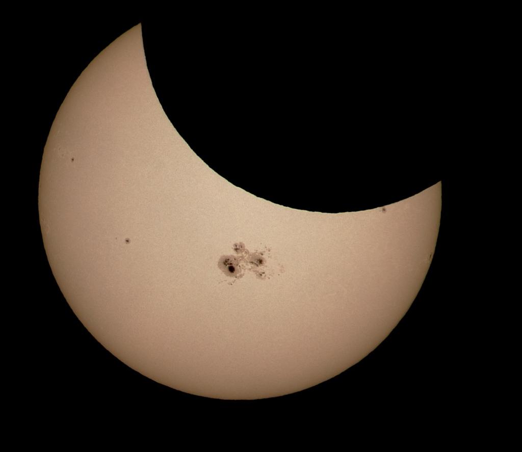 Manchas solares y eclipse