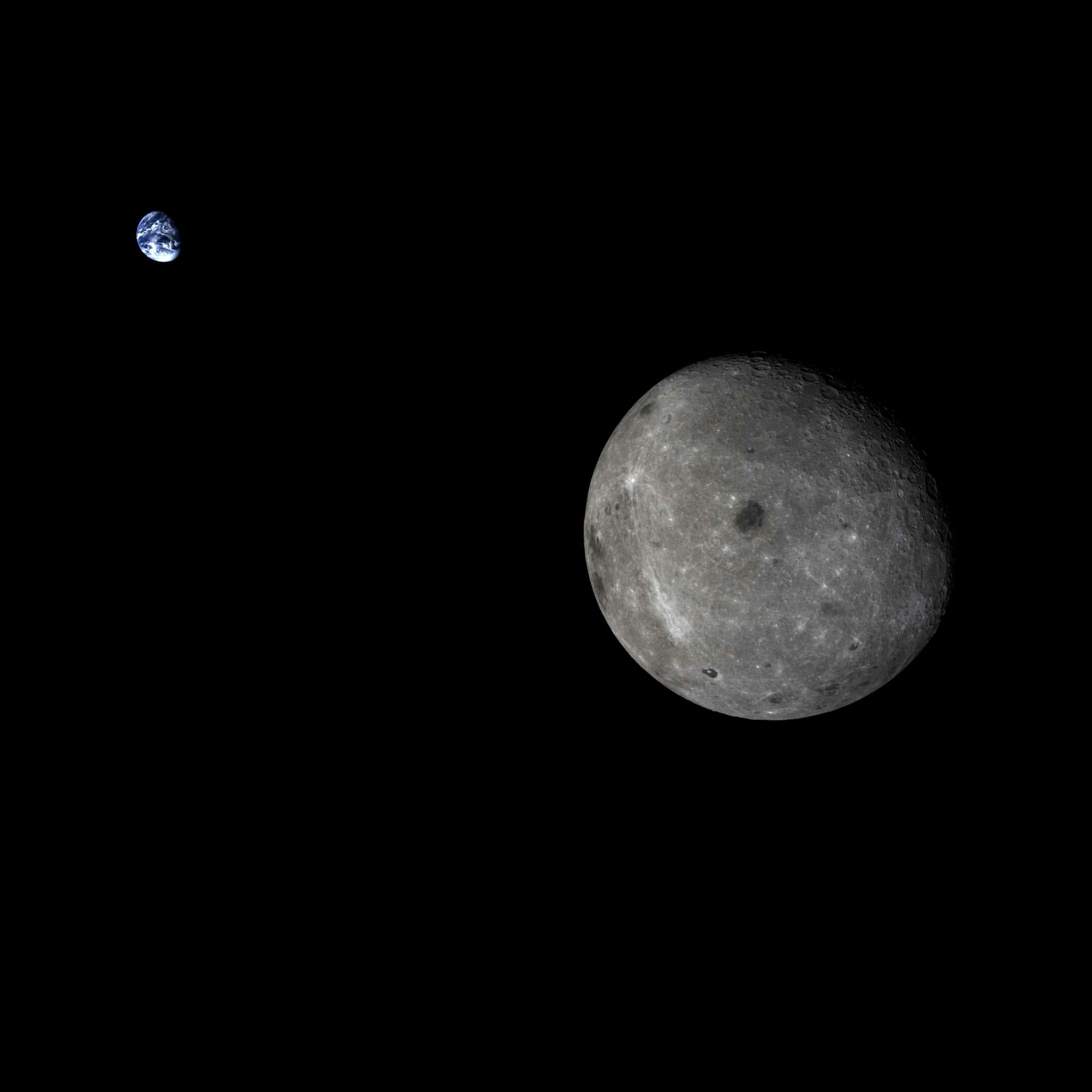 APOD: 2014 November 4 - Moon and Earth from Chang e 5 T1